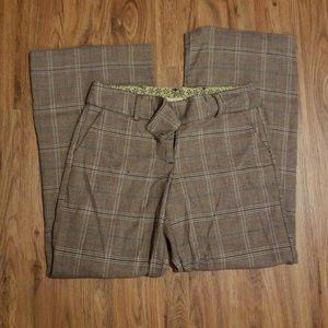 trouser pants, wide leg, plaid